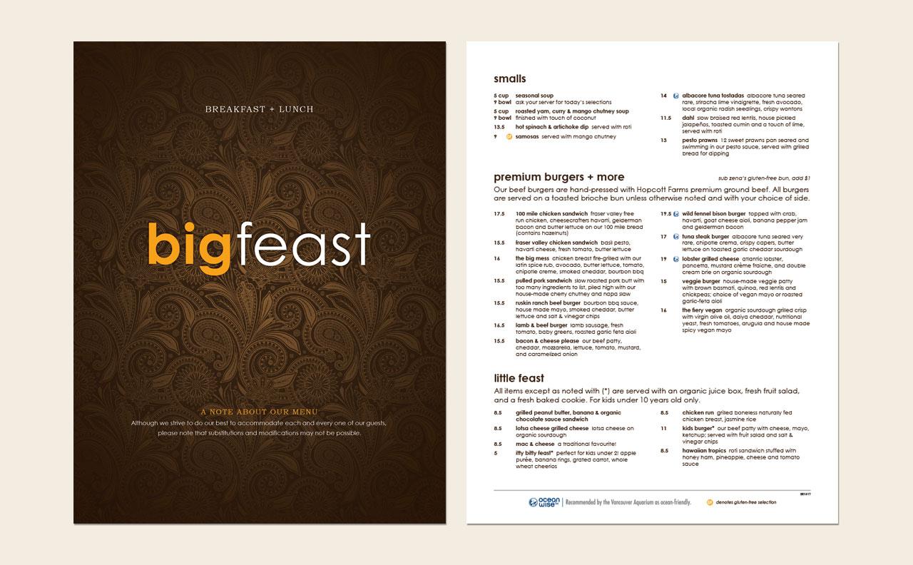 Big Feast Menu by HCD