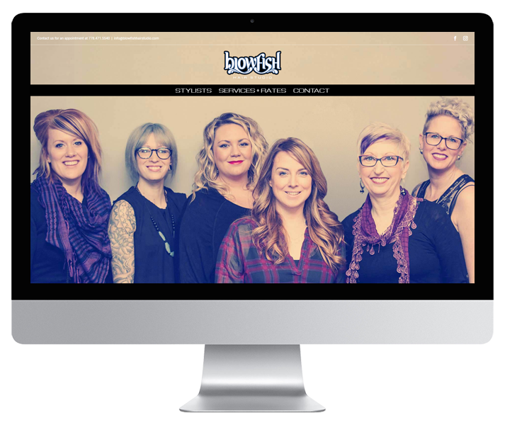 Blowfish Hair Studio Site by HCD