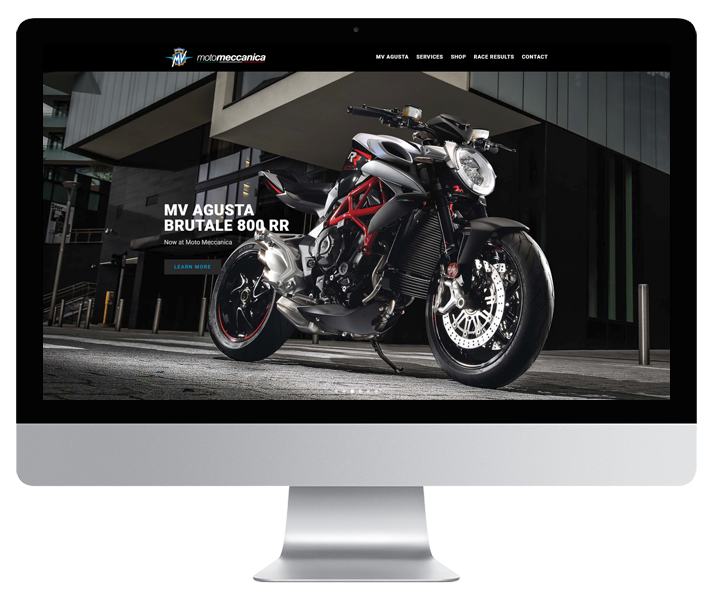 Moto Meccanica 2018 Website by HCD