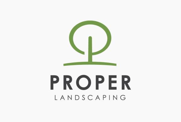 Proper Landscaping Logo by HCD