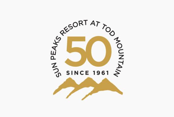 Sun Peaks 50 Anniversary Logo by HCD