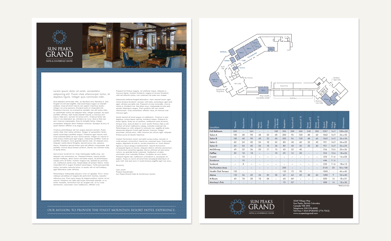Sun Peaks Grand Hotel Internal Documents by HCD