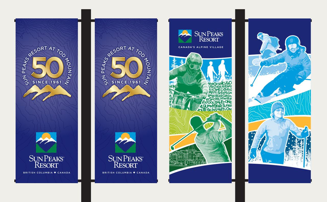 Sun Peaks Resort Walkway Banners by HCD