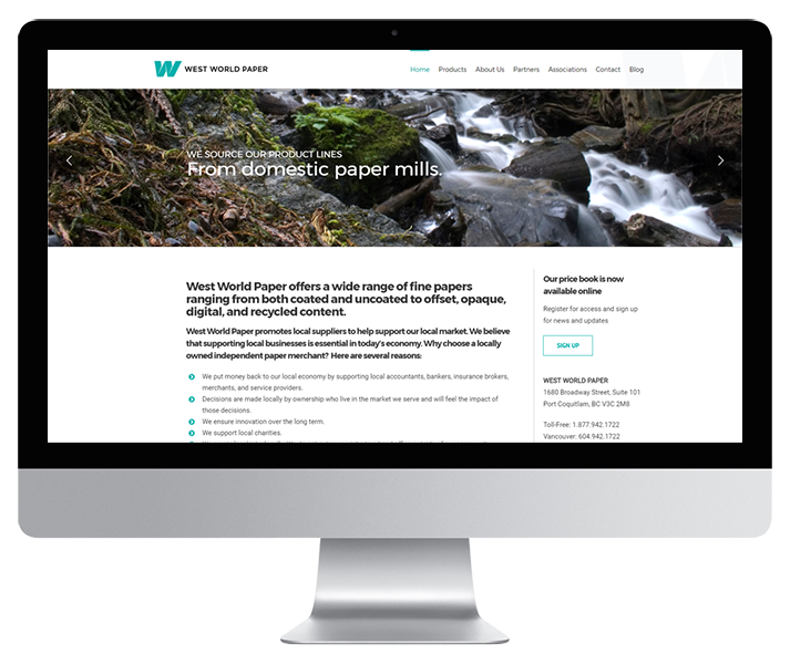 West World Paper Website by HCD
